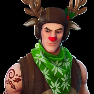 Fortnite Weihnchtes Skin Red Nosed Ranger