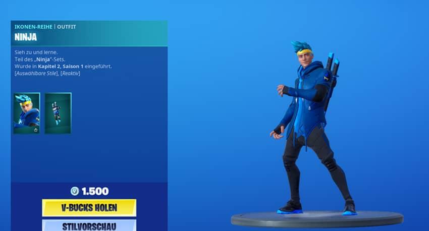 Ninja Fortnite Skin