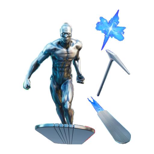 Fortnite silver surfer bundle